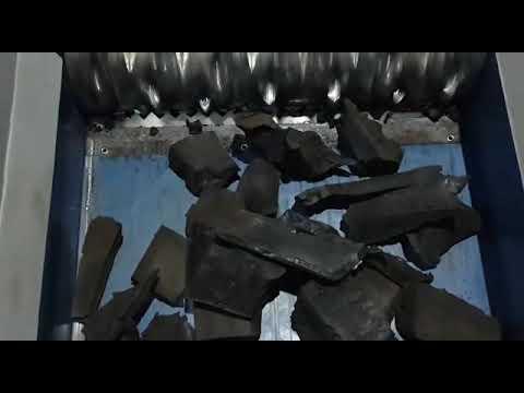 Ecopolymer Shredder Shark ES10.2 shreds heavy rubber waste