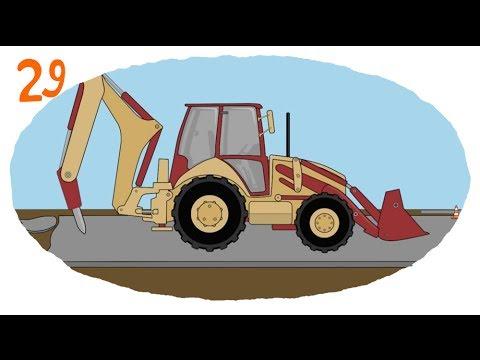 Раскраска помощники грузовики