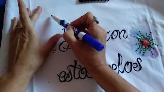 Pintar tela con rotuladores