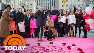 Woman Gets A Surprise Valentine's Day Proposal Live On The Plaza | TODAY