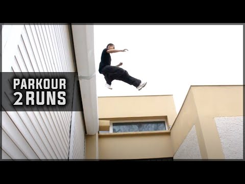 Parkour - Déplacement efficace sur les toits de Miramas, 2 Runs (FRENCH)