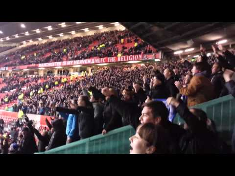 Manchester United 0-1 Everton - Away Fans