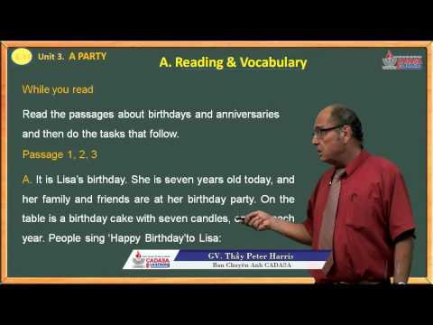 Bài giảng anh văn 11 - A Party - Reading & Vocabulary - Cadasa.vn