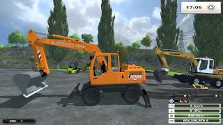 FARMING SIMULATOR 2013 NEW TEST MODS SCAVATORI E CARRELLI