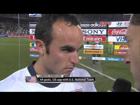 USMNT algeria 2010 post game