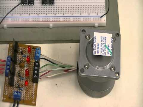 Easy Driver With Arduino And Unipolar Stepper Motor Youtube