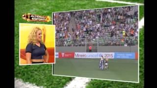 Representante do Galo no Gata do Mineiro foi ao jogo