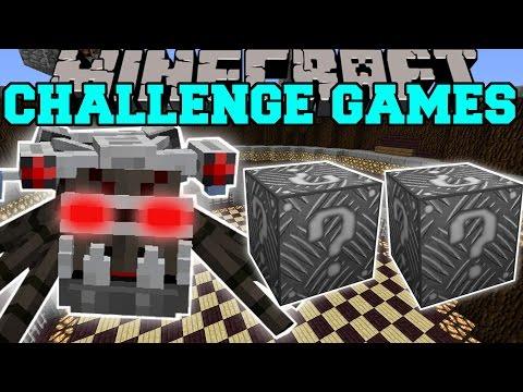 Minecraft: ALIEN ROBOT SPIDER CHALLENGE GAMES - Lucky Block Mod - Modded Mini-Game