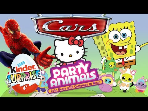 Kinder Surprise Eggs Sponge Bob Hello Kitty Cars Disney Princess Spider Man