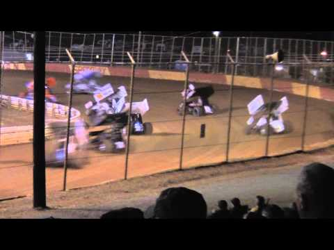 Lincoln Speedway 410 and 358 Sprint Car Highlights 9-28-13