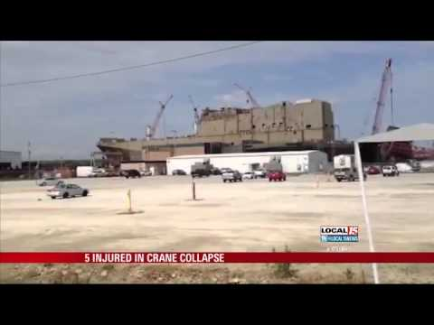 5 Injured in Miss. Crane Collapse