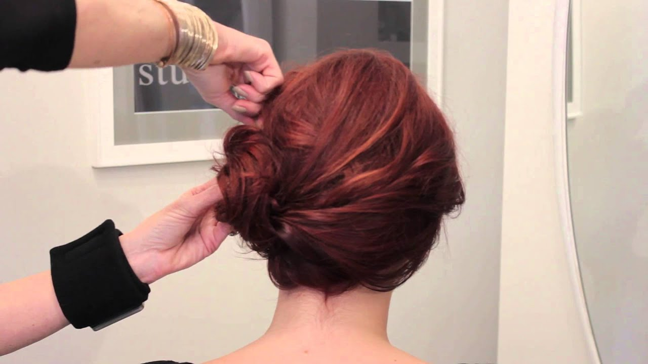 Hairstyles With Side Buns : Fashionable Wedding Hairstyles - YouTube