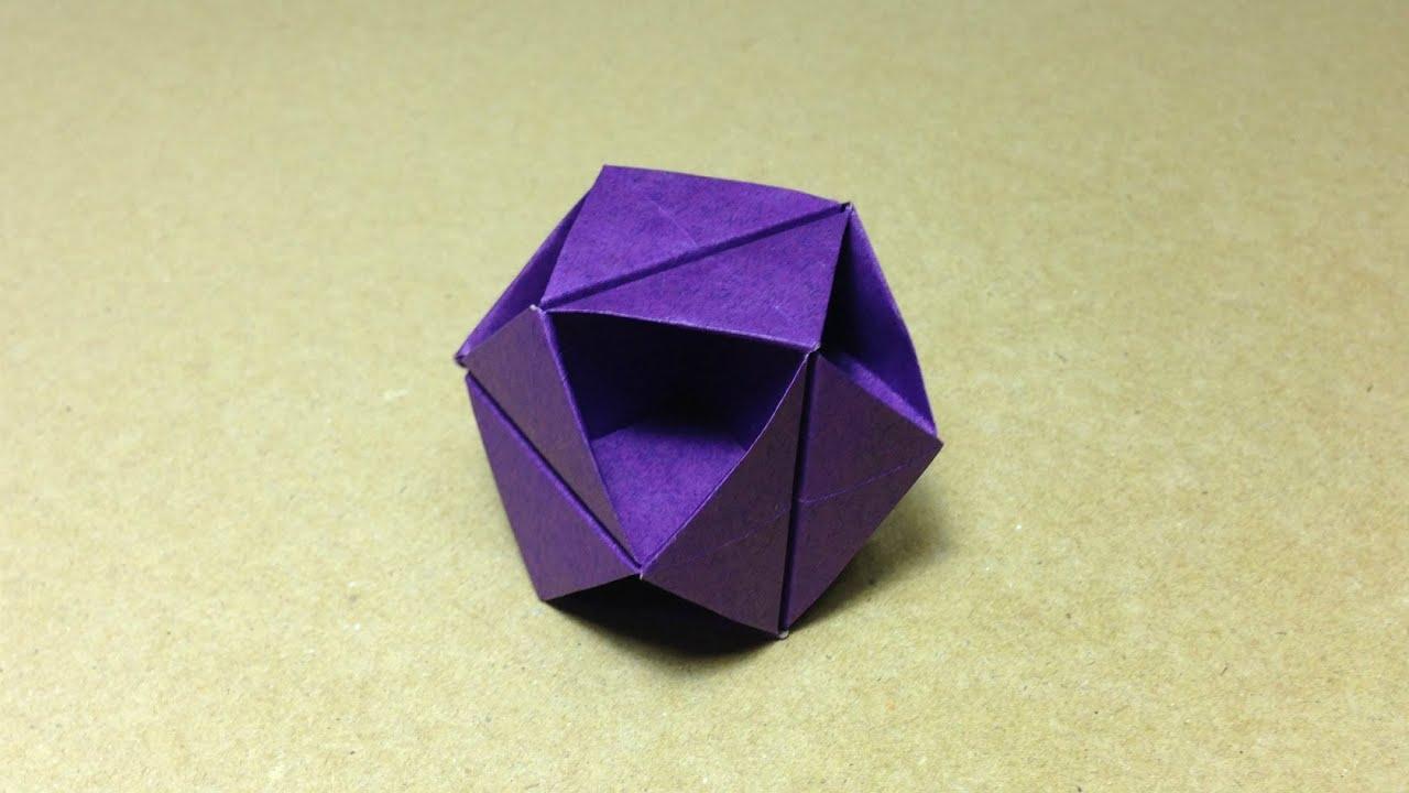 すべての折り紙 上級折り紙 : Modular Origami Ball Tutorial