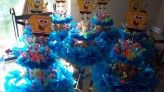 Centro De Mesa De Elmo Y Sponge Bob