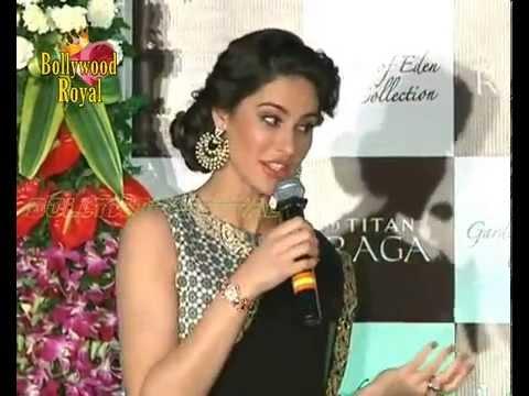 Nargis Fakhri Launches Titan Raga new Collection 'Garden Of Eden'