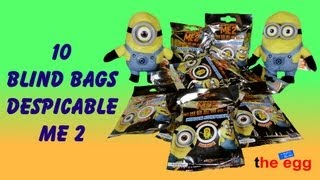 10 Blind Bags DESPICABLE ME 2, Minion Surprise Figure inside opening unboxing toys