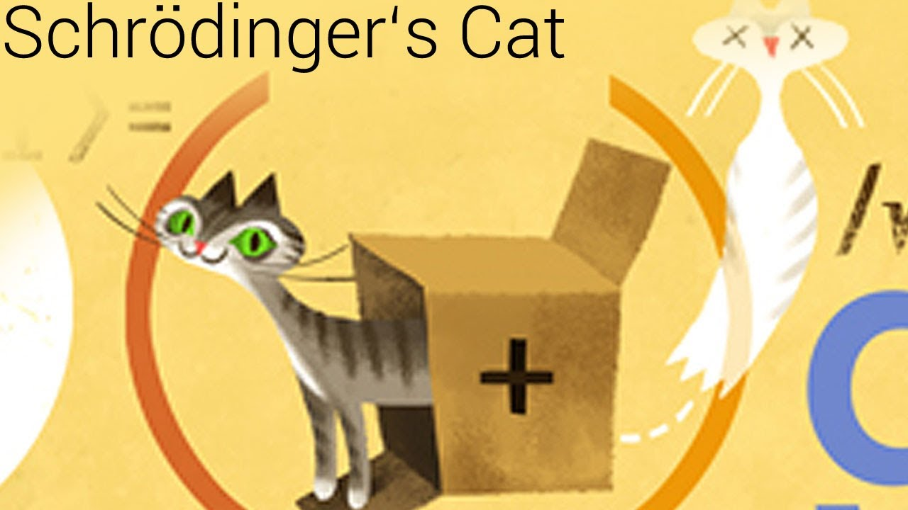 Erwin Schrödinger Cat Content Paradox (Google doodle ...