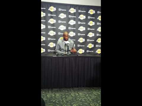 Lakers' Jodie Meeks Press Conference After Career-Best 42 points vs. Oklahoma City Thunder 3/9/14