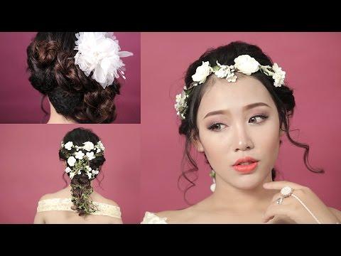 2 kiểu tóc cô dâu đẹp lãng mạn cho ngày cưới hỏi