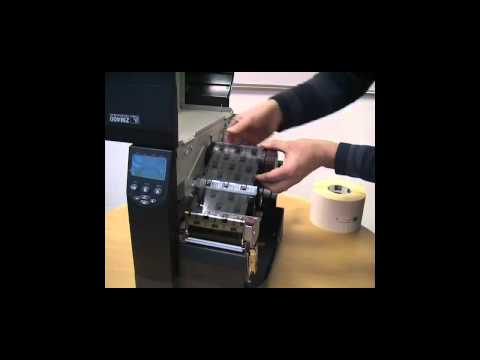Zebra ZM400 barcode label printer how to install ribbons and labels