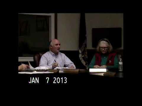 Chazy Town Board Meeting 1-7-13