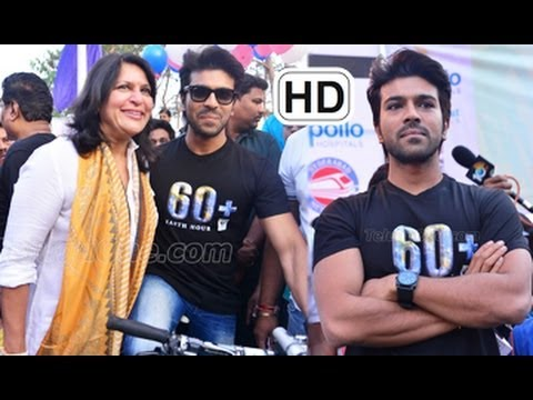Ram Charan Flags Off Eco Friendly Cycle ...