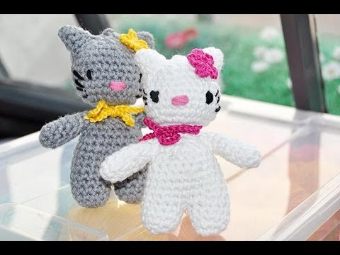 How to Crochet * Hello Lucy, Hello Lomo * Part #1 * Amigurumi, http://www.knitaholics.com/ * This video teaches you how to crochet an Amigurumi Kitty as a prototype for your upcoming Advent calendar. Part 1 shows you how...