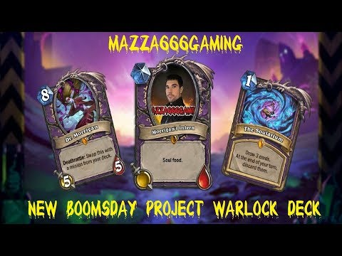 Hearthstone - The Boomsday Project - My New Prince Keleseth / The Soularium Warlock Deck gameplay