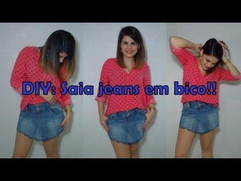 | Tri Chique | DIY: Saia Jeans em bico!!