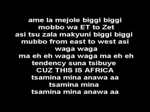 Shakira - Waka Waka (This Time For Africa) LYRICS