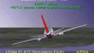 USAir Flight 427 Accident Animation
