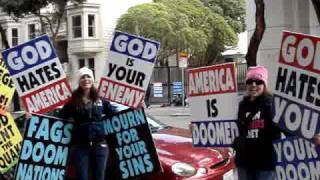 Westboro Baptist Church - Lady Gaga Parody Live in SF