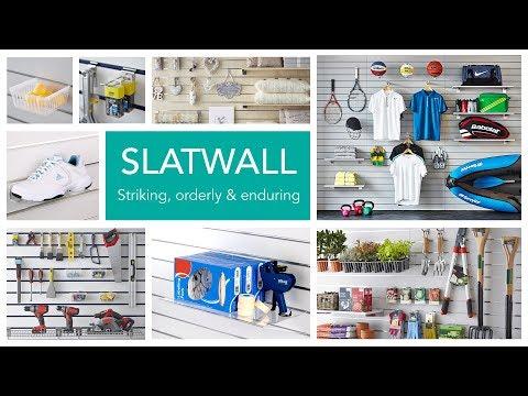 20 x White Slatwall Panels - Half Size