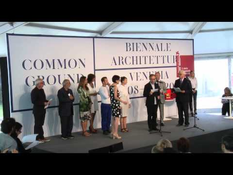 venezia awards ceremony of the 13th international architecture