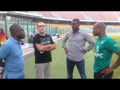 Video: Watch Marcel Desailly visiting the Black Stars ahead of Ghana's clash with Comoros in Kumasi