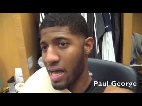 Paul George reacts to Derrick Rose's season-ending meniscus injury