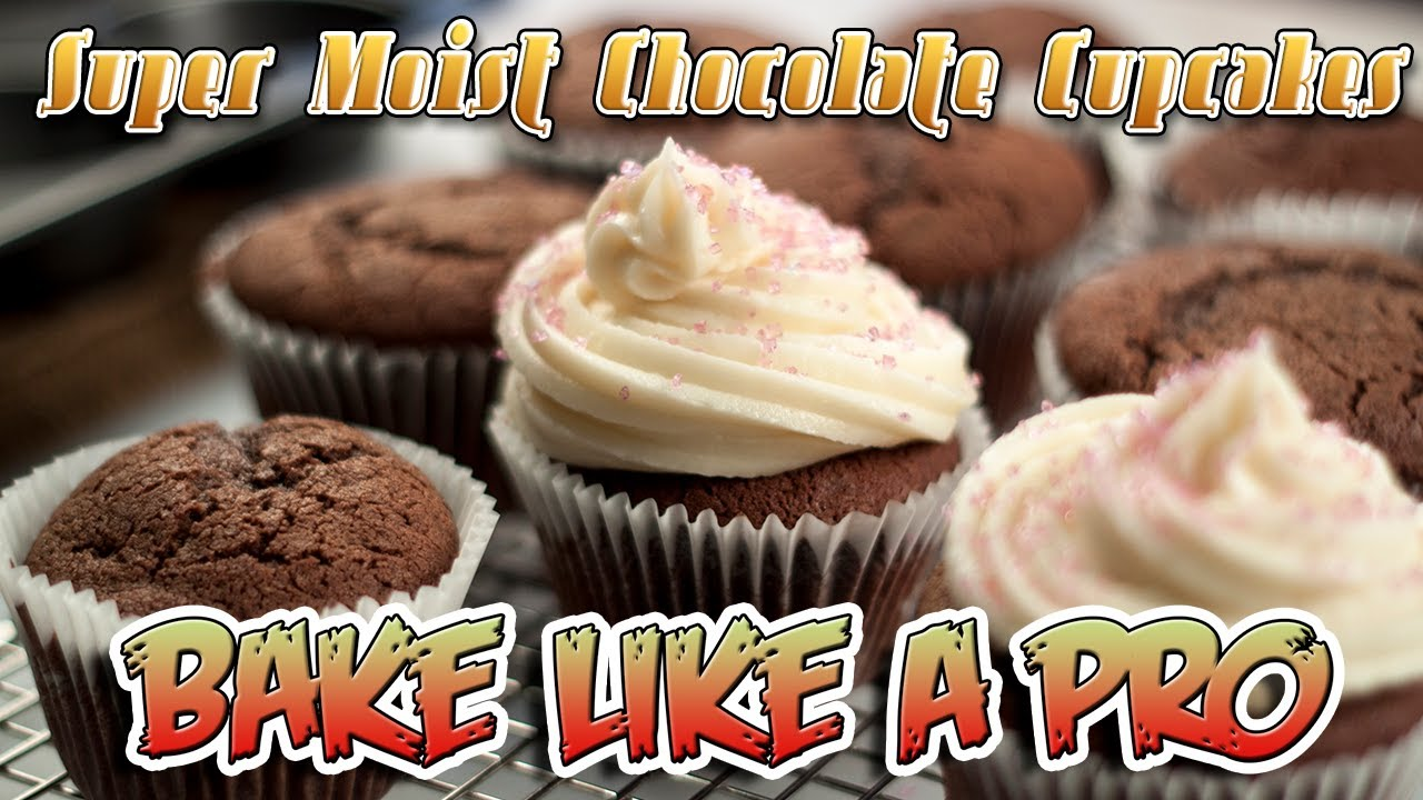 SUPER MOIST Chocolate Cupcakes Recipe - YouTube