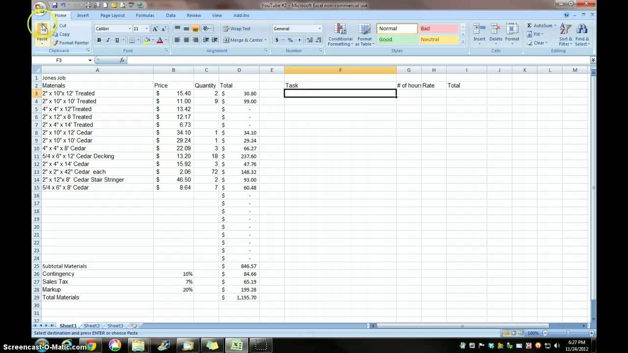 Construction estimating construction estimating excel for Building estimator