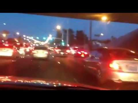 Traffic of cars in the evening