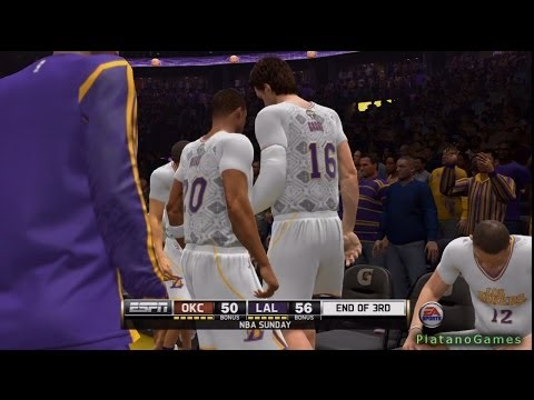 NBA Live 14 PS4 - Oklahoma City Thunder vs Los Angeles Lakers - Halftime Highlights Show - HD