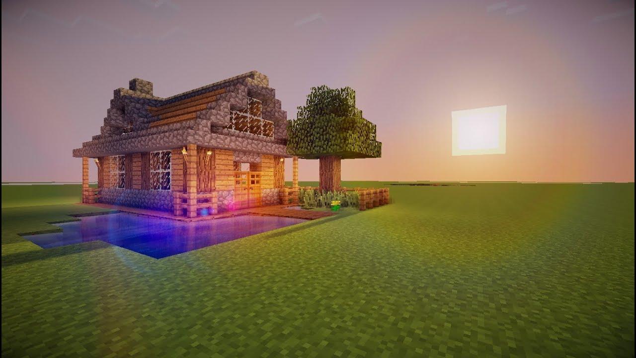 Tutoriel maison simple minecraft youtube for Construction de maison sur minecraft