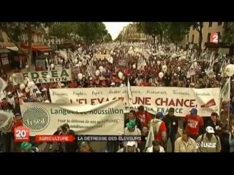 Manifestation Eleveurs FDSEA - Reportage FRANCE2