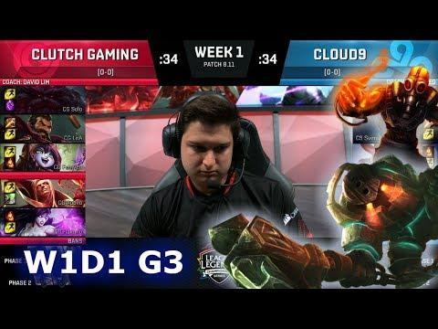Clutch Gaming vs Cloud 9 | Week 1 Day 1 S8 NA LCS Summer 2018 | CG vs C9 W1D1