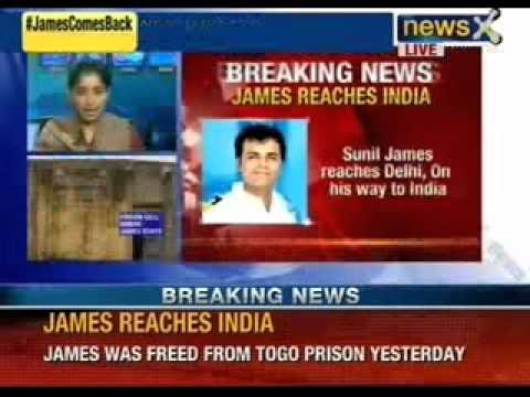 NewsX: Sunil james was released from Togo prison yesterday