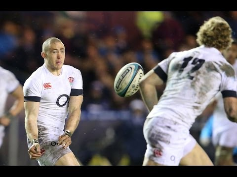 Great first half from Mike Brown - England v Ireland 22nd February 2014