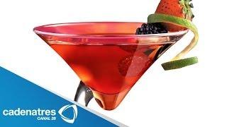Receta para preparar martini red y un cosmopolitan
