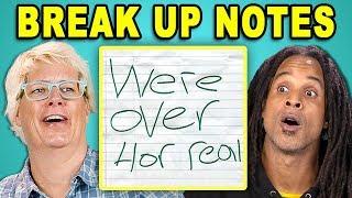 PARENTS READ 10 BREAK UP NOTES (REACT)