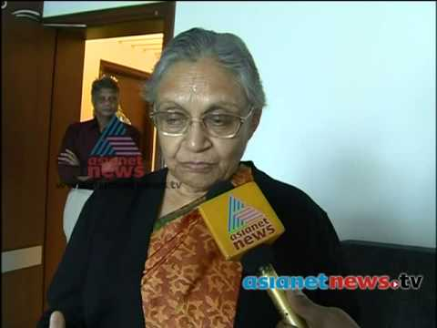 Sheila Dikshit speaks on Asianet News :Sheila Dikshit appointed Governor of Kerala