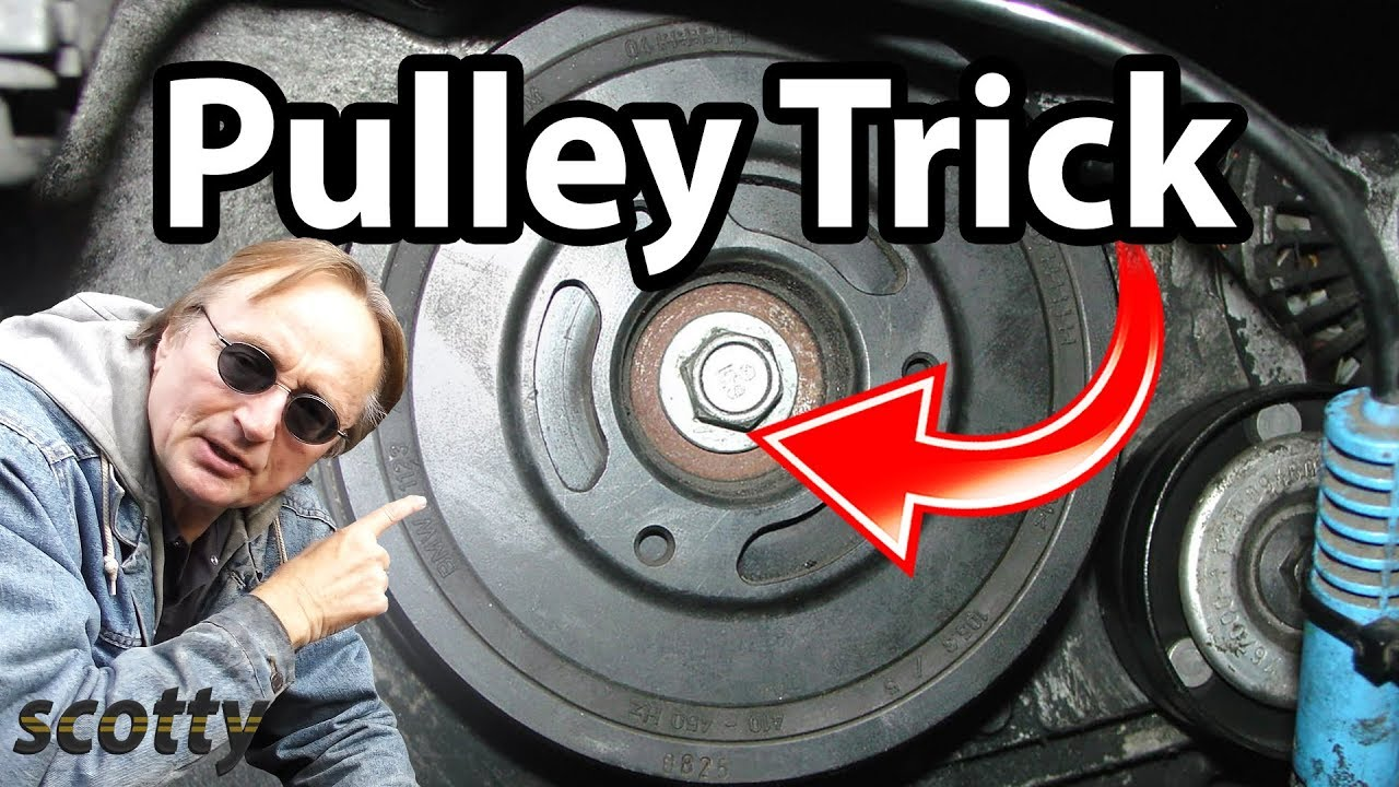 Crankshaft Pulley Removal Trick Youtube
