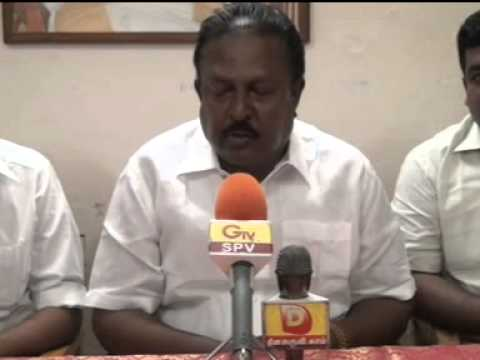 08 12 2013 NELLAI DMK KARUPPASAMY PANDIAN PRESS MEET